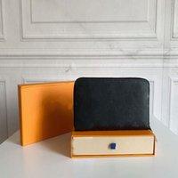 디자이너 유니섹스 비즈니스 럭셔리 여성 손 가방 남자 공식 패션 클래식 블랙 지갑 고품질 일반 지갑