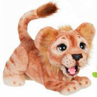 Подлинная кукла маленький лев плюшевая игрушка любознательный медведь плюшевый звук маленький тигр игрушка музыка Panda кукла