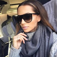선글라스 Kim Kardashian 큰 여성 빈티지 레트로 평면 탑 대형 태양 안경 광장 파일럿 럭셔리 디자이너 큰 검은 색조