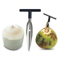 Outil d'ouverture de noix de coco Ouvre en acier inoxydable ouverture de noix de coco coup de coco perforatrice percer la paille de paille ouverte découper Cadeau d'ouverture de fruits