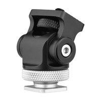 Cabeça de montagem da montagem da sapata fria da câmera rotativa com a interface de 1/4 polegada para a expansão da expansão da expansão do microfone da luz do monitor
