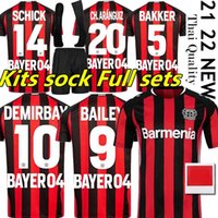 2021 2022 Jerseys de fútbol de Leverkusen 04 Bayer Demirbay Wirtz Camisa de Fútbol Inicio CH ARANGUIZ PAULO SCHICK CAMISETAS KITS SOCKS COMPLETH SETS JERSEY