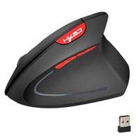 무선 마우스 2. 4GHz 게임 인체 공학적 디자인 세로 2400dpi USB 마우스 휴대용 컴퓨터 자동 PC 데스크탑