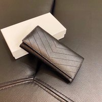 Womens Designer Wallet High Quality Genuine Leather Unisex Coin Purse Mens Wallets Handbag Long Purses Fashion Tote Bags Card Holder Handbags Clutch With Box