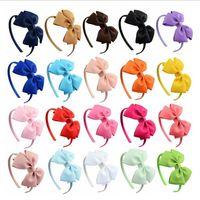 Großhandel handgemachte Kinder Bogen Stirnband Mädchen Haarband Haarschmuck