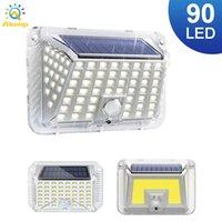 2021 Lampada solare 90 Lampada da pannelli a LED 3 Modalità induzione del corpo Giardino Giardino Porta Cortile Porta Lampade per illuminazione da parete all'aperto