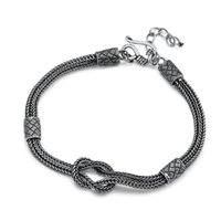 925 Sterling silver foxtail chain bracelets American European antique handmade punk gothic designer luxury jewelry accessories gifts
