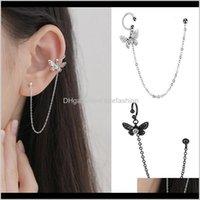 Jewelry1 Pcs Korean 925 Sterling Sier Tassel Butterfly Statement Stud Earrings For Women Wedding Jewelry Pendientes Eh14151 Drop Delivery 202