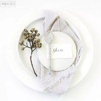 Table Napkin Light Grey Cloth Napkins Party Guaze Wedding Decoration 43 X43cm