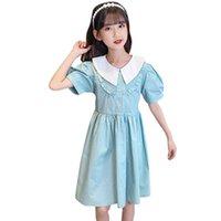 Девушки платье Лоскутное одеяло девушки платья сплошного цвета для детей летний костюм 6 8 10 12 14 Девушка