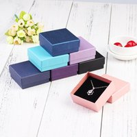 Multicolor 7X7X3cm Jewelry Boxes For Packaging Earring Jewlery Box Gift Cardboard Diy Display Storage Packing Wrap