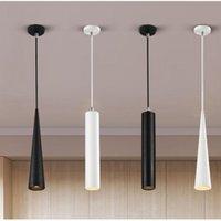 Pendant Lamps Nordic Led Chandelier Long Downlight Kitchen Restaurant Bar Cone Decorative Lamp Bedside