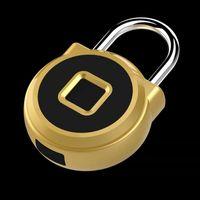 USB Chargeable Smart Fingerprint Lock Padlock Keyless Portable Anti-Theft Padlocks Electronic Non-password Finger Touch Locks