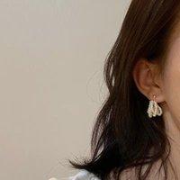 Dangle & Chandelier Vintage Baroque Pearl Gold Color Earrings For Women Freshwater Beads Ear Studs Korean Fashion Jewelry Wedding Accessorie