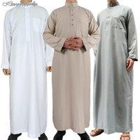 Ethnic Clothing Ramadan Men Muslim Islamic Jubba Thobe Robes Saudi Arabia Dishdasha Dress Casual Loose Kaftan Abaya Dubai Robe Gown