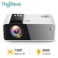 THUNDEAL TD90 MINI Projector HD Nativo 1280 * 720p LED Beamer Android WiFi en Smart Home Theatre Cinema 3D Película 210609