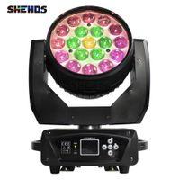 SHEHDS BILD LIGHT BEAM + WASSE 19X15W RGBW Zoom Moving Head Beleuchtung für Disco KTV Party DJ Equipment Rapid Transportation