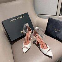 Moda Sezon Ayakkabı Amina İtalya Muaddi Sandalet Flacko Zincir Süslenmiş Deri Beyaz
