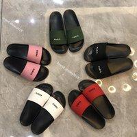 2021TOP 품질 남성 여성 슬리퍼 샌들 신발 슬라이드 여름 패션 와이드 플랫 플립 플롭 박스 크기