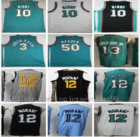 Vintage Erkek Basketbol Jersey JA 12 Ahlak Jaren 13 Jackson Jr. Retro Vintage Mike 10 Bibby Shareef 3 Abdur Rahim 50 Reeves NCAA Koleji Toptan Boyut S-2XL