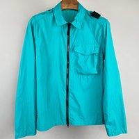 여름 솔리드 라이트 남자 재킷 자외선 차단제 지퍼 옷깃 코트 느슨한 캐주얼 야외 커플 frock epaulet 스타일 셔츠