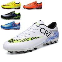 Futebol Crianças Adolescentes Competição Treinamento Sapatos Para Meninos e Meninas AG Spike Pastagem Artificial 7Exf