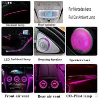 Full Set Car 64 colors Ambient Lamp Turbine Air Vent Rotating Tweeter LED Light for Mercedes benz C GLC Class W205 X253 2014-2021