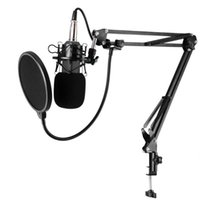 BM-800 Karaoke Studio Cardiod Condenser Kondansatör Mikrofon Müzik Kayıt Mic PC Laptop Kayıt KTV Singing Mikrofonlar Için