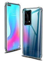 1000 Pcs Air Almofada TPU Crystal Case Silicone Canto claro Canto à prova de choque para Huawei P40 Pro + P30 Lite Mate 40 30 Nova 8 SE
