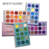 60-Colors / Set Beauty Glazed Book Colorshade Eyeshadow Palettes Eye Shadow المرحلة ماكياج نسخة اللون بريق سطع ماتي لامع الألوان المكياج