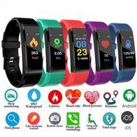 ID115 Artı Akıllı Bilezik Bileklik Spor Izci Akıllı İzle Kalp Hızı Sağlık Monitör Evrensel Android Cep Telefonları Perakende Kutusu