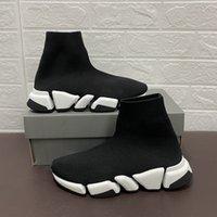패션 양말 디자이너 부츠 신발 수제 하이 백색 검은 스포츠 신발 남성과 여성 파티 플랫폼 캐주얼 상금 상자