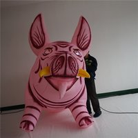 LED Inflatable Pig Inflatables Balloon With Light and CE Blower For Parade or Nightclub Ceiling Stage Decoration