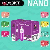100% Original authentisch Aokit Nano Einweg-E-Zigaretten eingebaute 1100mAh-Batterie 3000Puff 8ML VAPE CARTRIDGE BANG XXL GUNNPOD Geek Bar