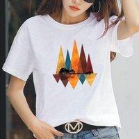 Women's T-Shirt Fashion Natural Scenery Print T Shirt Women Tops Casual Tshirt Summer Short Sleeve Harajuku Tee Femme Camiseta Mujer