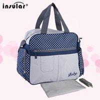 Maternity dress Insular Large Capacity Mummy Nappy Baby Diaper Changing Shoulder Maternity Handbag Stroller Messenger Bag for Mom