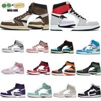 Designer Mens Hommes Jordan 1S Basketball Chaussures High Og 1 Université Unc Dunk Off Roya Blue Shoe Shoe Chicago Jumpman Entraîneurs Hommes Femme Sports Sneakers avec Box Tag 36-46