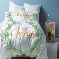 Bedding Sets Pastoral Style Set Printing Pillowcase Quilt Cover Wreath Duvet Covers Home Textiles Single Double Queen King Size