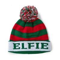 Kids Children's Christmas Hats Knitted Beanies Xmas Pom Pom Skull Caps Cartoon Knit Skiing Outdoor Cap Headwear
