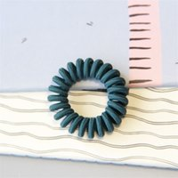 Mulheres Tricô Telefone Linha Lady Color Elastic Base Elastic Anel de Cabelo Acessórios Multicolor 0 6nr J2