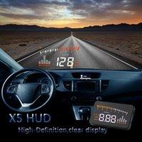 Leitores de Código Ferramentas de Digitalização Car HUD X5 OBD II Universal Auto Head Up DisplayWindshield Alarme de Tensão Eletrônica Sistema de Adubo Proje