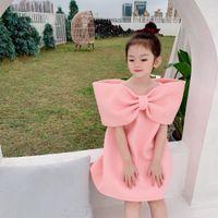 Fashion Summer Kids Girls princess Dress Sweet Baby Pink Dress Children Girls birthday party Dresses