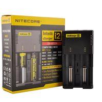 Hight Quality Nitecore I2 Universal Carregador para 16340/18650/14500/26650 Bateria EU UE UK Plug 2 em 1 Intellicharger DHL