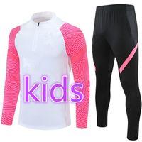 2021 Real Madrid Survetement Enfant Jordam Trainingsanzug Training Anzug MBAPE Kids Football Kit Fußballjacke