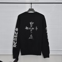 Fashion brand autumn and winter new back cross sleeve Sanskrit men's and women's casual round neck rockheart knitted sweater
