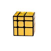 MOYU Mofangjiaoshi 3x3 거울 S 큐브 매직 퍼즐 두뇌 티저 닦 았 더미 스티커 교육 장난감 검은 트위스트 드롭 우주선