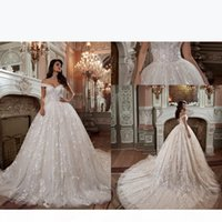 Luxury Country Plus Size Off Shoulder Lace Wedding Dresses Backless Applique Wedding Bridal Gowns For Wedding Party Dress Vestidos
