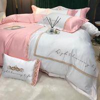 Bedding Sets Modern Queen King Size Set Luxury Wedding Bed Duvet Cover Bedsheet Pillowcases Soft Cotton