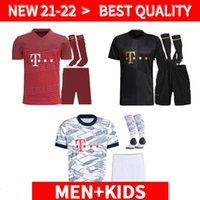 Взрослые и Kids Kit 21 22 Бавария Kit Munich Soccer Tracksyseys Lewandowski 2021 2022 Hernandez Cuoutinho Ребенок для взрослых Униформа Полный комплект Футбол