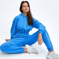 Tracksuit Women Solid Sweatshirts Pullover Set Casual Loose ...